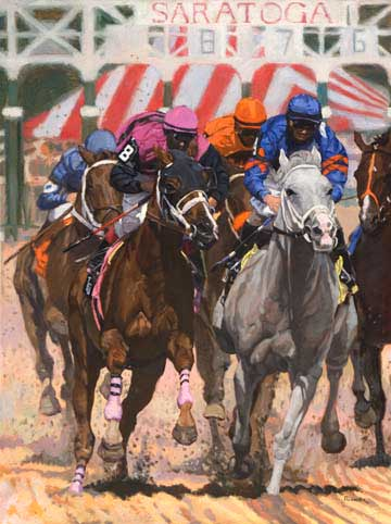 Racing Horses Saratoga VIII (The Second Race)