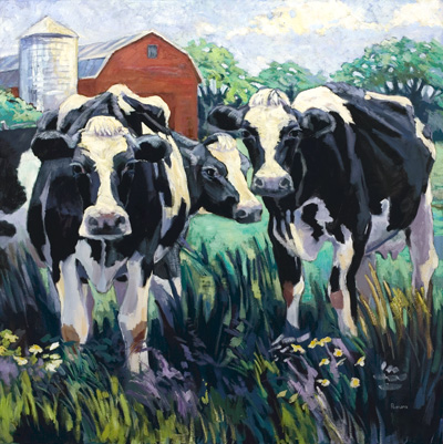 Three Cows, Standing (Just Hangin' Out)
