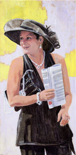 Portrait of a Lady Wearing Hat