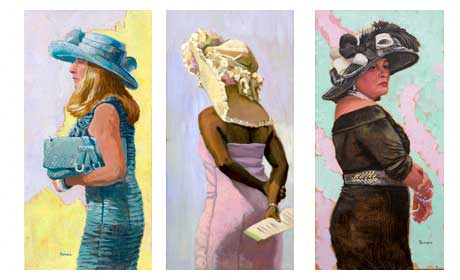 Three More Studies of Ladies with Hats